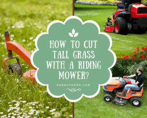 How To Cut Tall Grass With A Riding Mower?